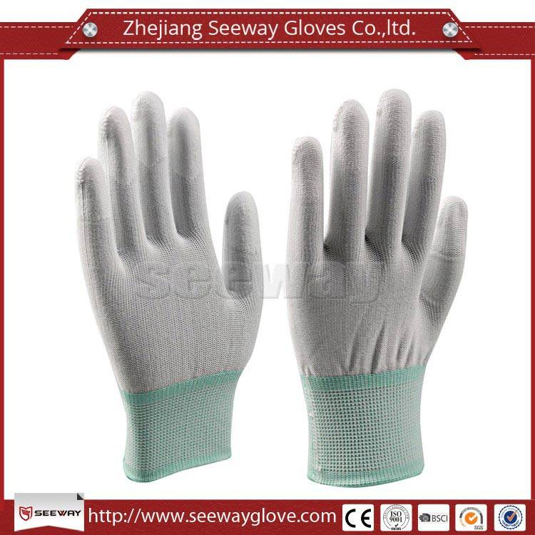 SeeWay 808 Cleanroom Nylon and PU Fingertip Coated Gloves