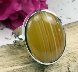 yellow banded cabochon rings-fashion rings,gemstone rings,fine jewelry,fashion jewellery