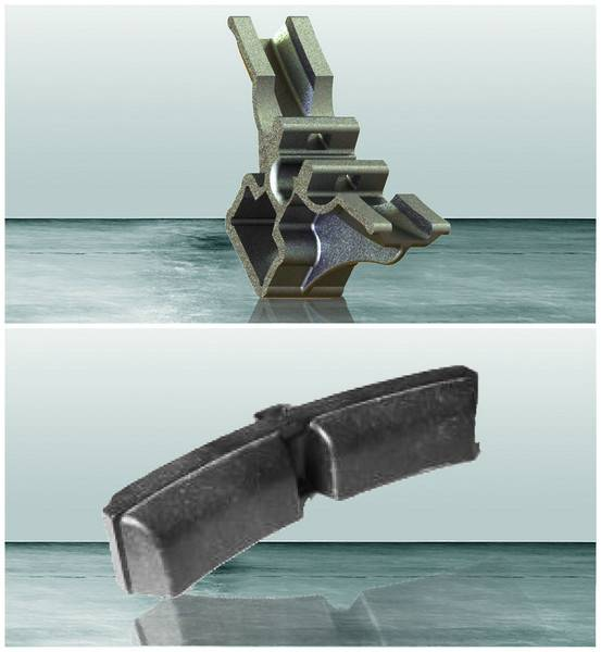 brake block holder of railway parts