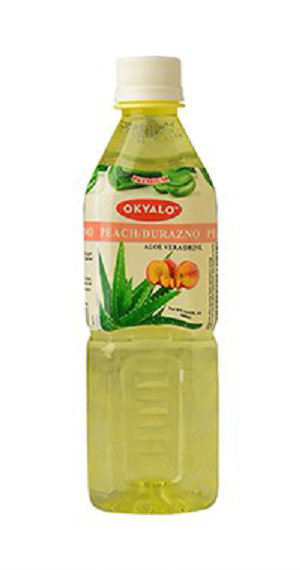 500ml Peach Fresh Pure Aloe Vera Drink Supplier OKYALO