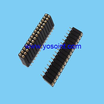 2.54mm machine pin female header H7.0 round pin straight solder
