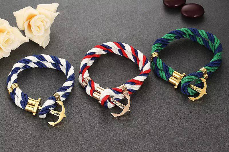 New design leather bracelet anchor bracelet
