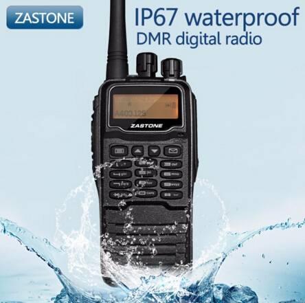 Two Way Radio ZASTONE DMR digital radio DP880 walkie talkie compatible with MOTOTRBO free headset