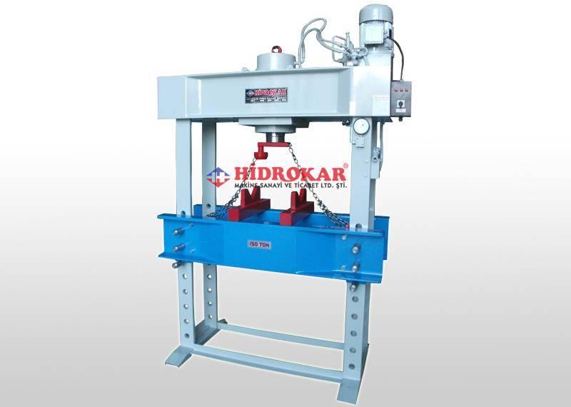 hydraulic workshop press 150 tons remote control