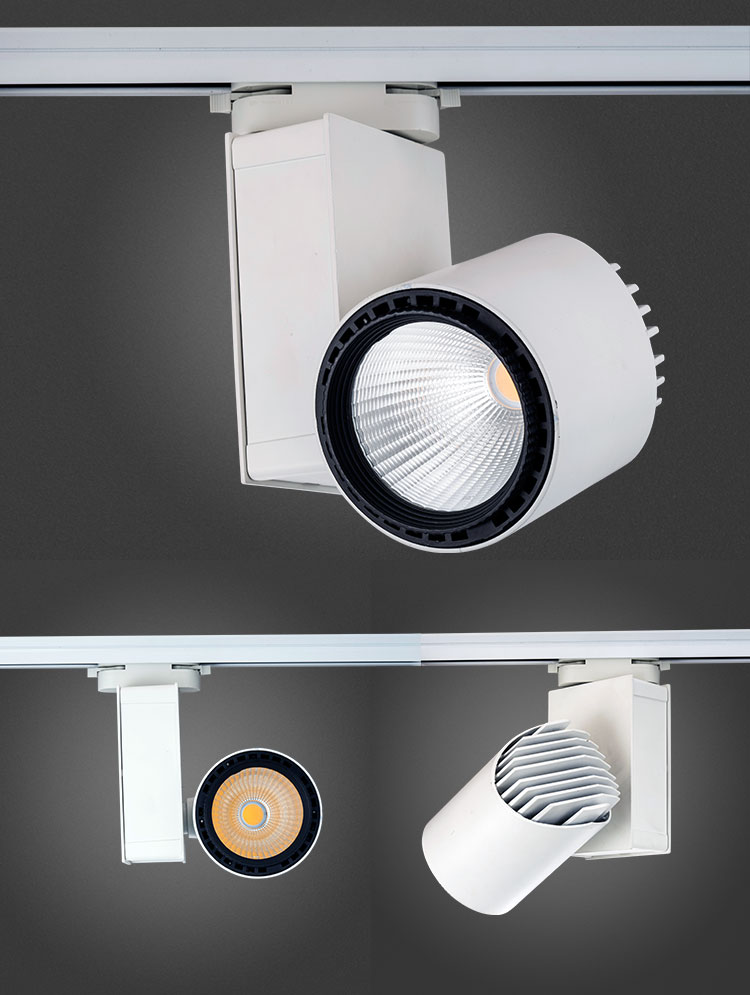 Aluminum Track Light 30W COB LED Surface Lights With SAA CB
