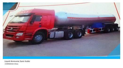 3 axle 46000L Liquid Ammonia tanker semi trailer for sale