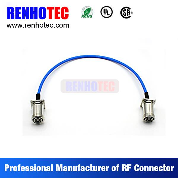 7/16 to 7/16 Plug Electrical Connectors Custom Colorful Wire Rope Cable Assembly RG179