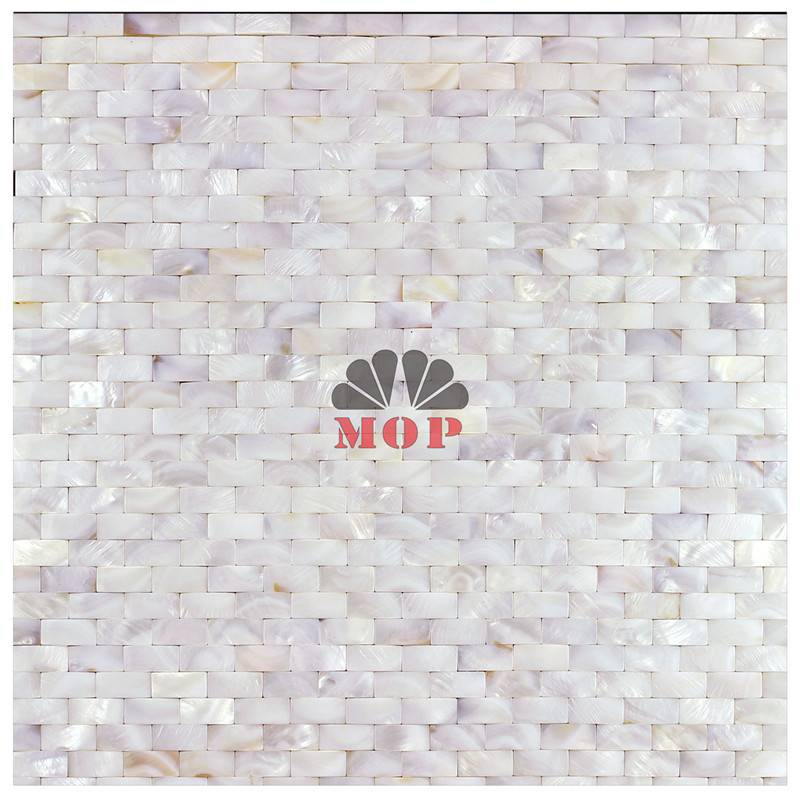 3D cambered white pearl shell mosaic Corridor