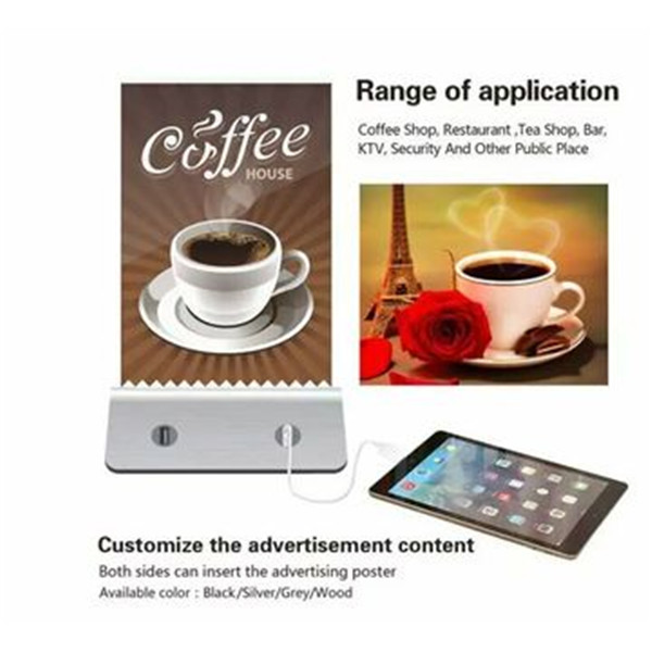 Restaurant menu power bank 13000mAh for coffee bar, hotel with four USB output