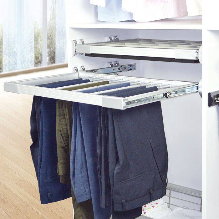 Wardrobe Soft Close Pull Out Trousers Rack