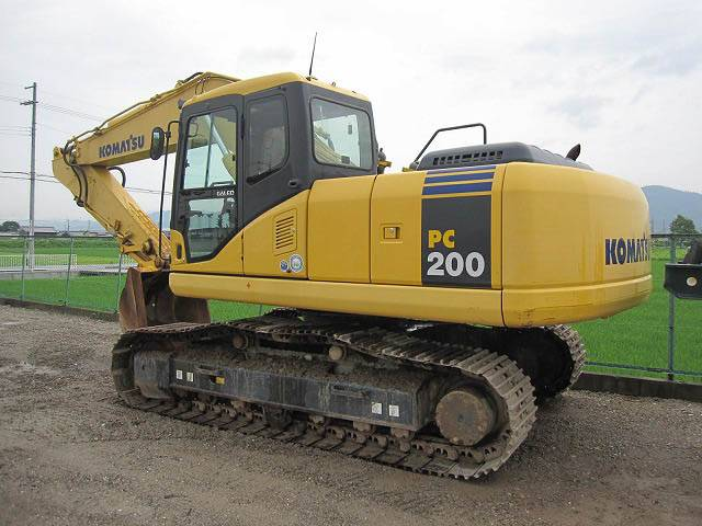 used Japan original komatsu PC200-7 excavator