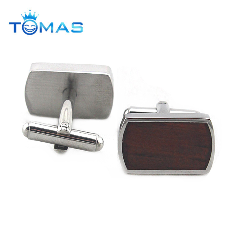 Hot selling new design wooden cuff links for men with custom logo