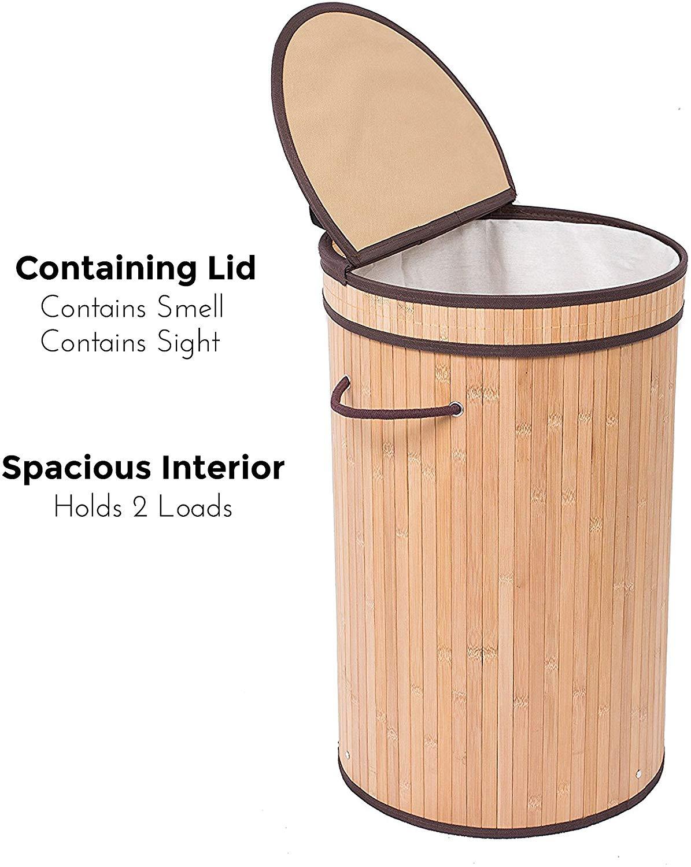 New Design Vietnam Bamboo Storage Basket for Laundry Rattan Seagrass Basket