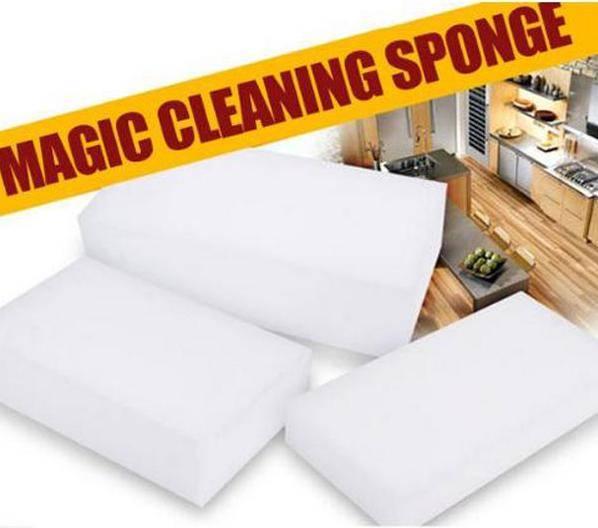 White Handy Size Melamine Magic Sponge Eraser