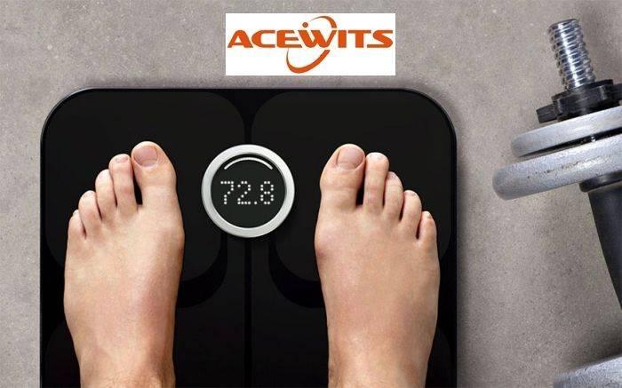 Acewits AS-10 bluetooth Smart Body Analyzer, Health Tracking Wireless Bathroom Scale