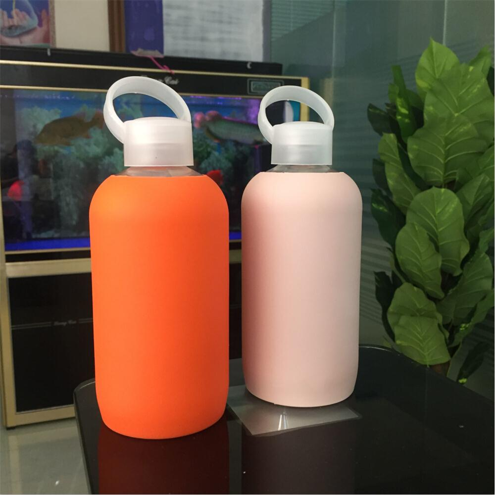 Promotional gift 500ml unbreakable glass drinking water bottle