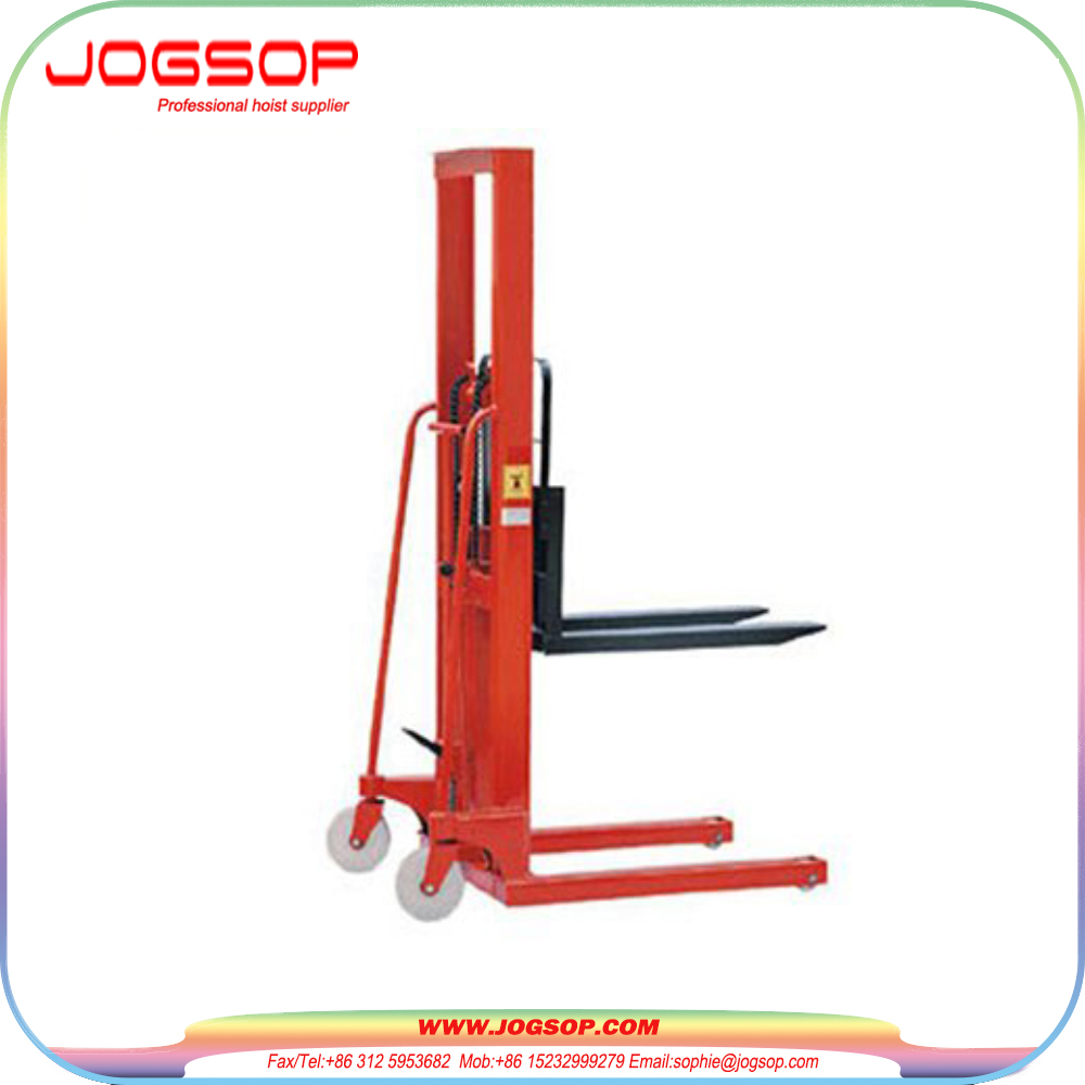 Factory Price Professional forklift semi hydraulic pallet stacker