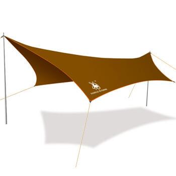 Iron pole silver coating anti UV ultralight waterproof tarp H41