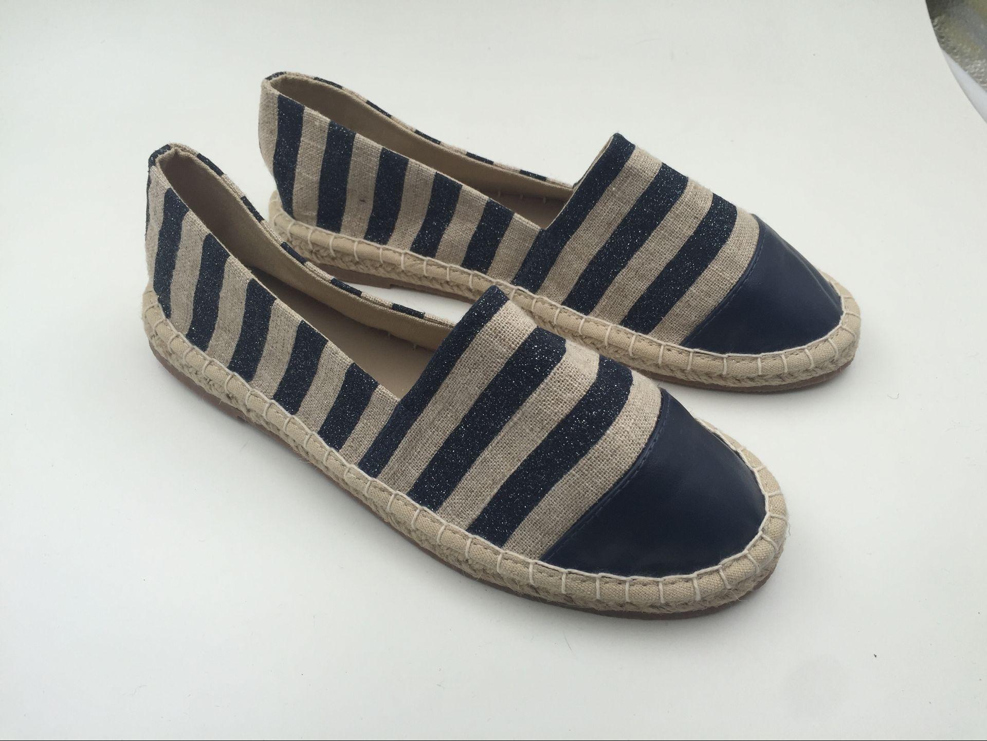 Stylish Women Espadrilles Ladie Flat Hemp Shoes