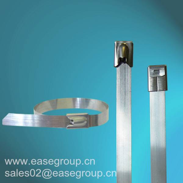 Chinese Manufacture Uncoated Ball Lock Stainless Steel Cable Ties with UL