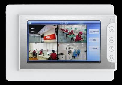 "7"" Video Door Phone, with 4 channel Digital Screen"