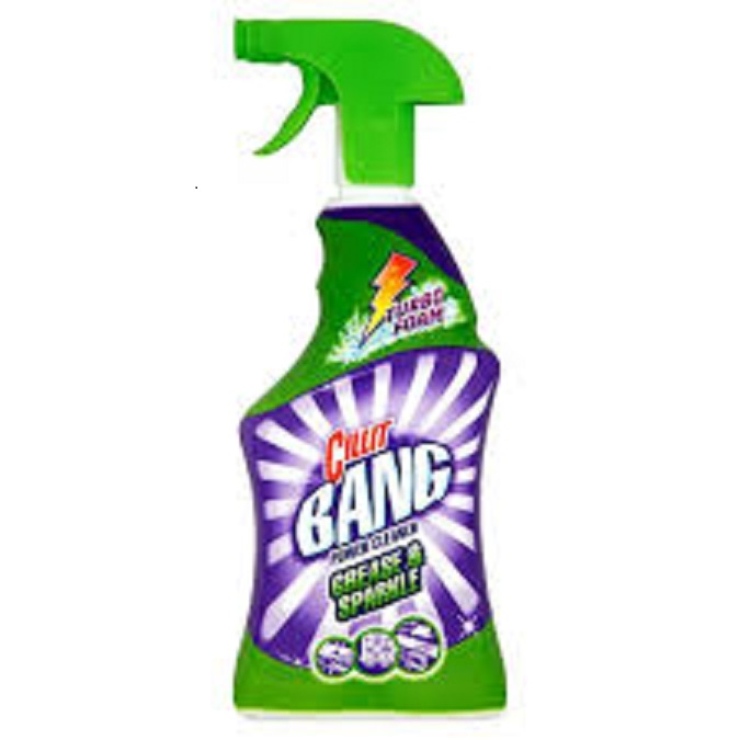 Cillit Bang Stone & Dirt Stain Remover 750ml,Cillit Bang Grease & Smudges Turbo Power Stain Remover