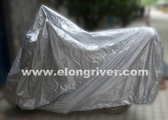 Silver Polyester Motorcycle Cover / Motorbike Cover / Scooter Cover