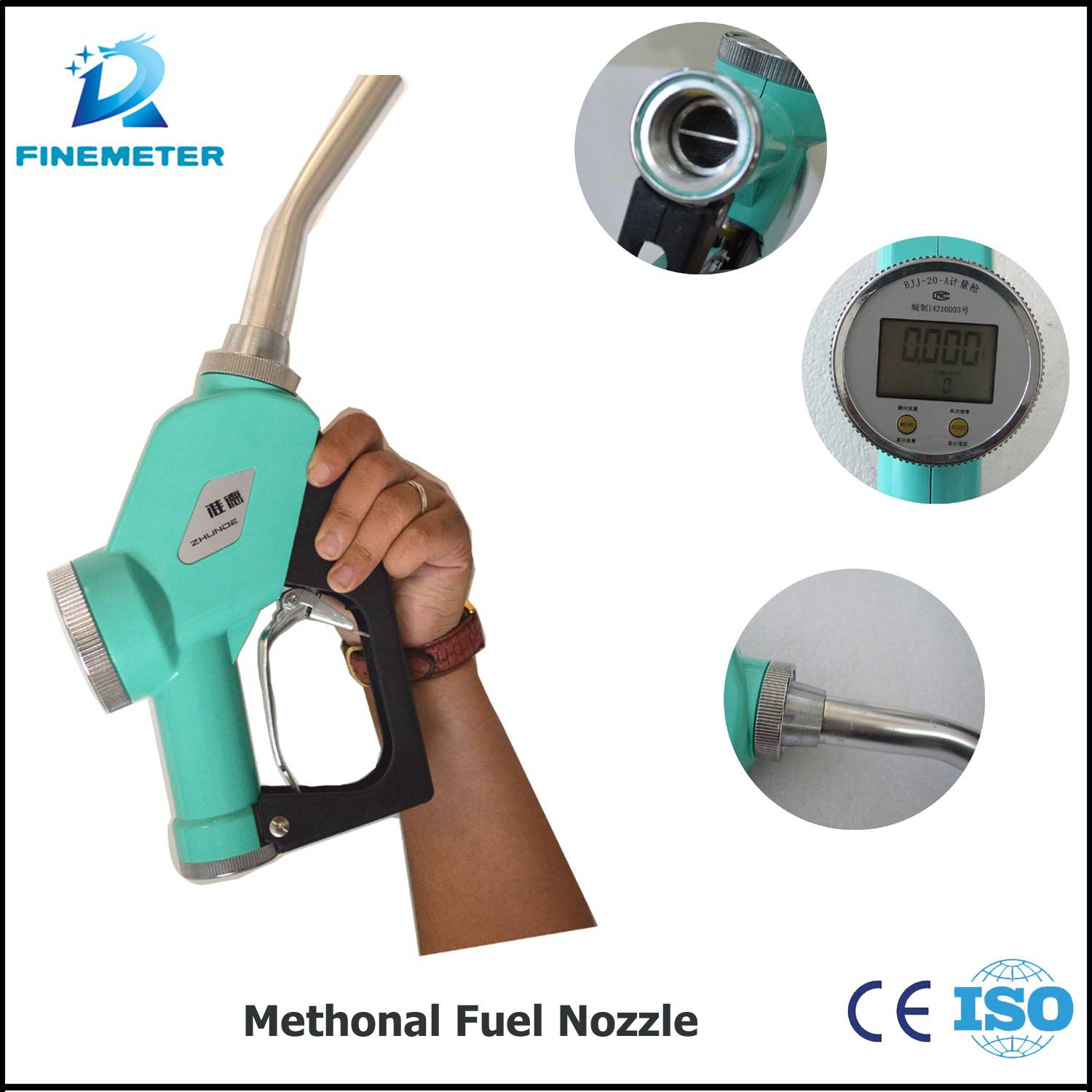 Mobile Methanol fuel nozzle fuel filling nozzle oil meter