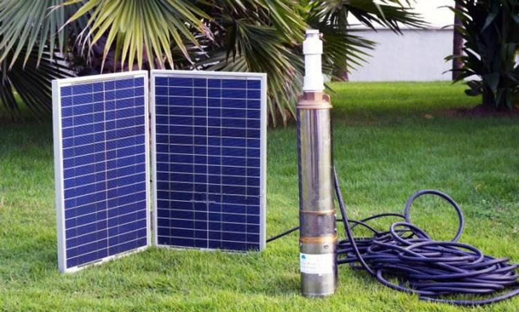 solar water pump and panel submersible fountain pomp