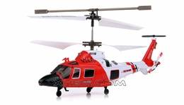 Syma S111G 3 Channel RC Indoor Mini Co-Axial Infared MH-68A Hitron U.S Coast Guard RC Helicopter w/
