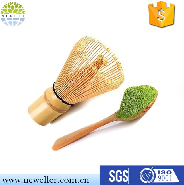 Matcha whisk and tea spoon natural bamboo matcha green tea powder bamboo whisk