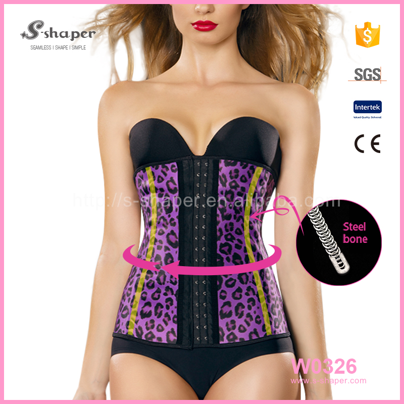 S-shaper Slimming Corset Latex Sport Waist Trainer Cincher