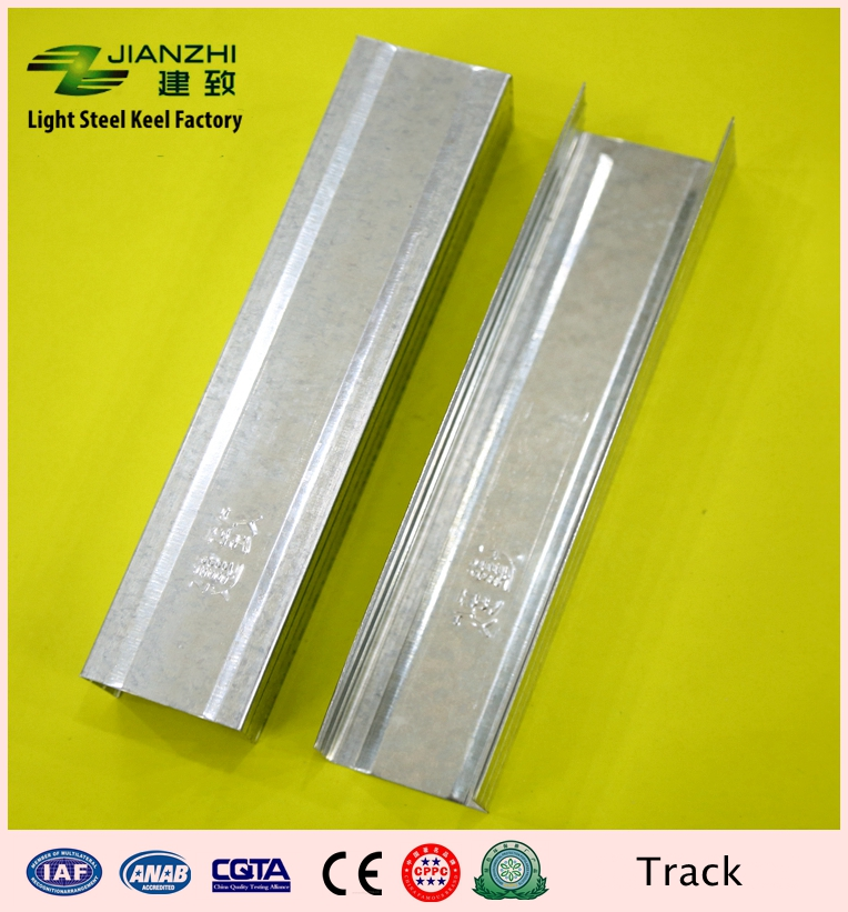 Cheap sale 5022mm rust proof galvanized steel U type horizontal channel for partiton system