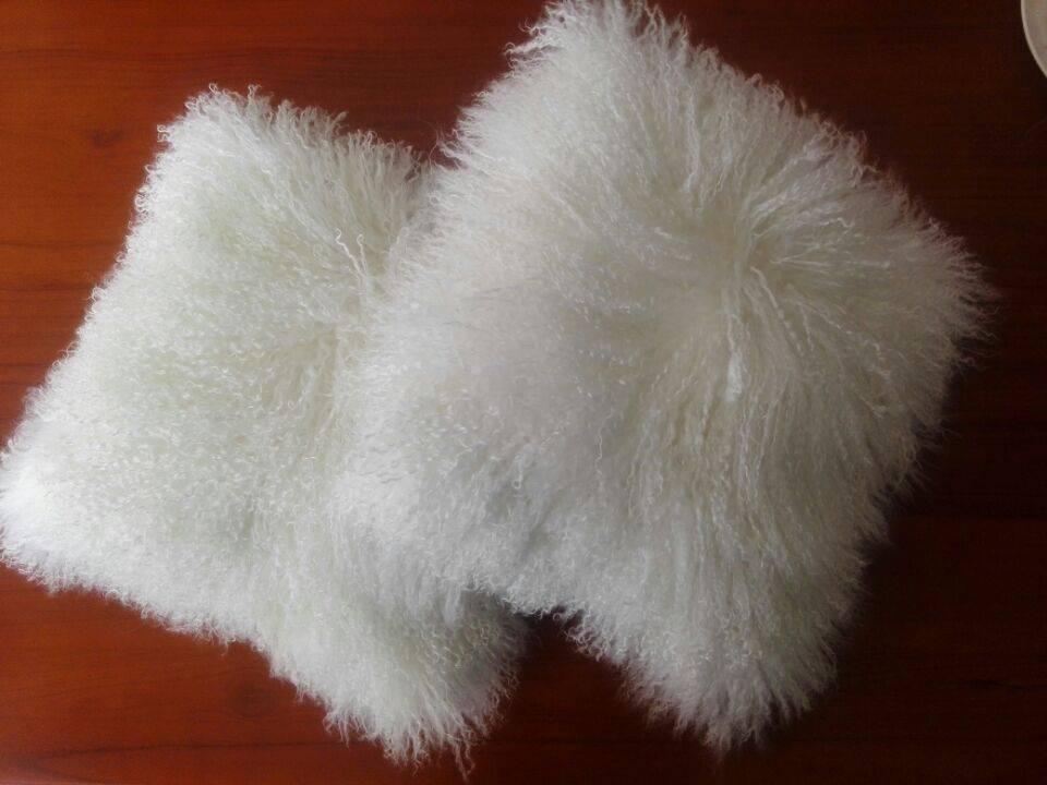 Wholesale Tibetan Mongolian Lamb Fur New Fashion Fur Throw Pillows Cushions