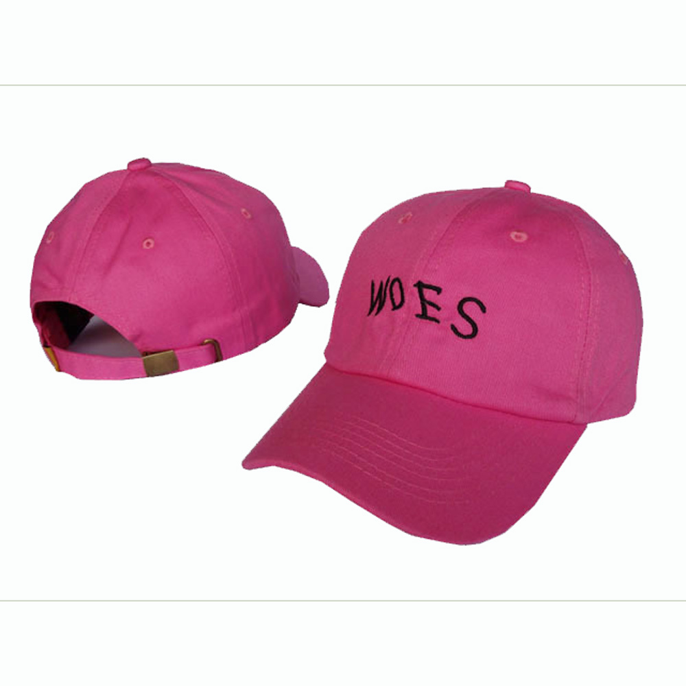 custom cotton baseball cap with flat embroidery