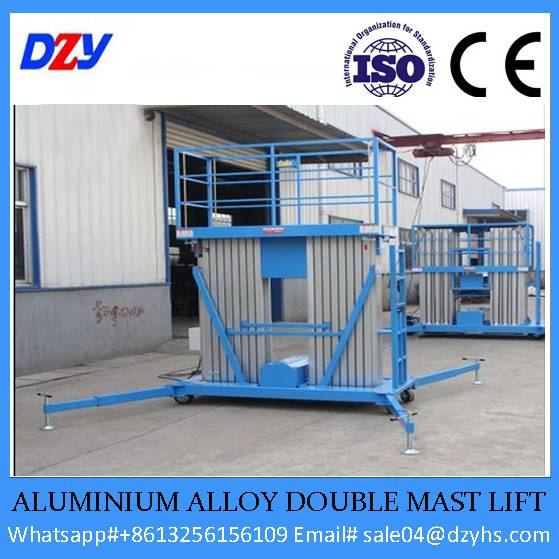 Aluminium Alloy Double Mast Lift Platform