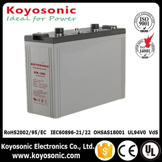 Koyosonic Battery Manufacture Lead acid Battery 2V 1000Ah AGM battery