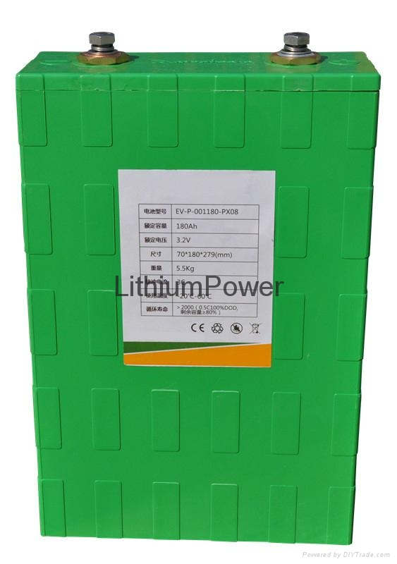 Lithium power batteries 180Ah for electric cars etc
