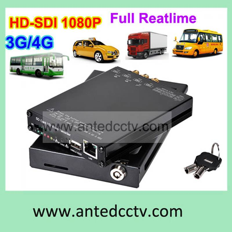 Mini Mobile DVR 4ch video H.264 for Car Bus Mobile Monitoring System