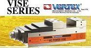 MC power vise  VQC-125 by vertex machine vise hydraulic vise mechanical, Precision pneumaticvise