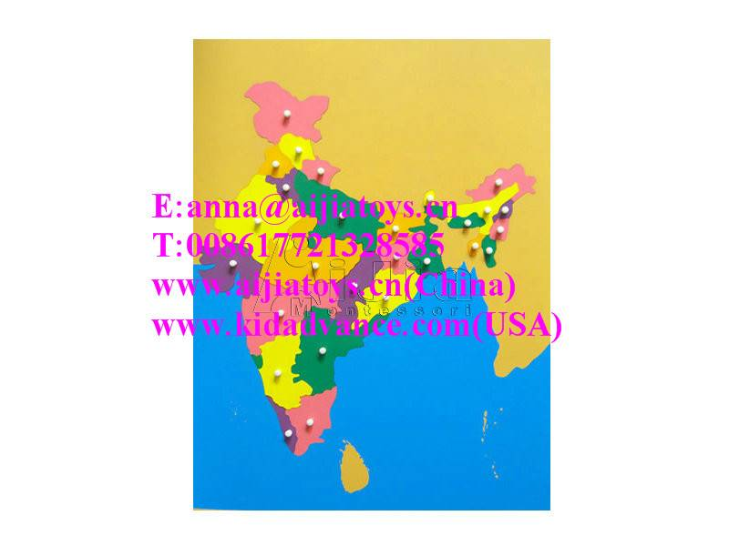 Montessori Puzzle Map of India,montessori materials toys