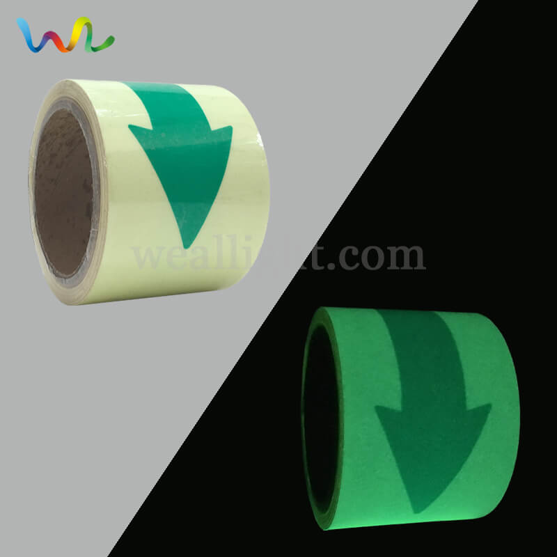 Egress Tape, Luminescent Tape, Exit Symbol