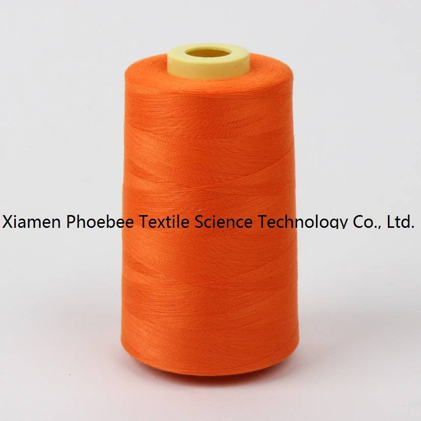 100% polyester Dyed sewing thread 52/2