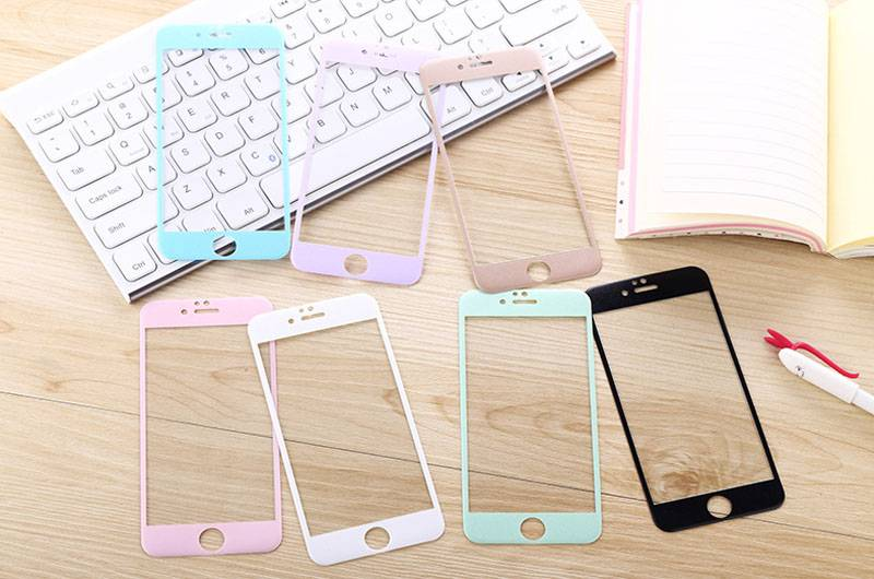 2016 new arrived Colorful Toughened glass membrane ,mobile phones accessories screen protector  for