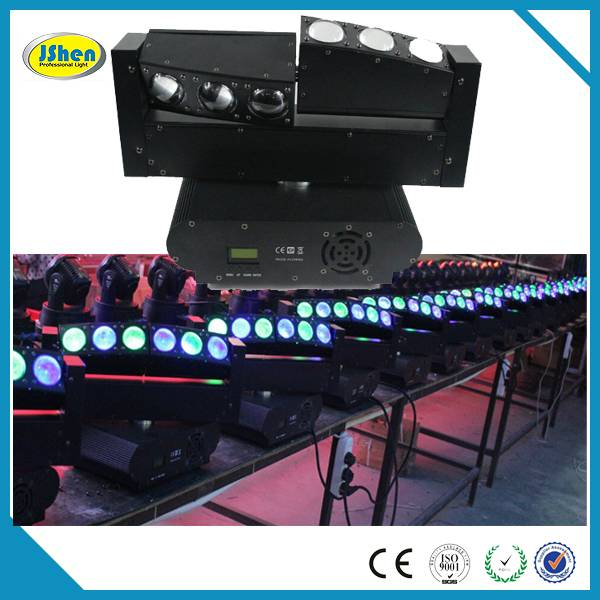 2014 latest style!!!6 Head Two Side Led Moving head beam light