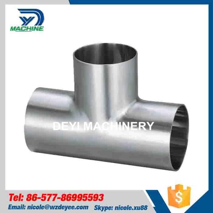 Sanitary Stainless Steel Welding Equal Tee