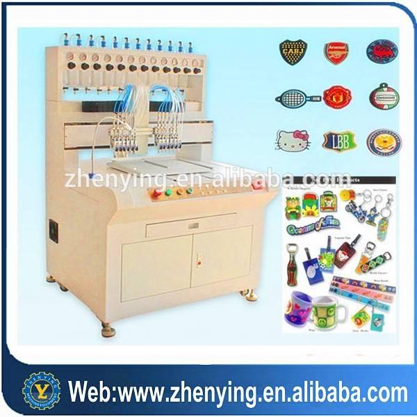 ZY brand PVC injection logo machine rubber garment labels machine