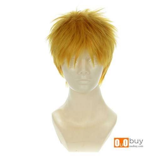 Attack on Titan Reiner Braun Golden Yellow Short Cosplay Wig
