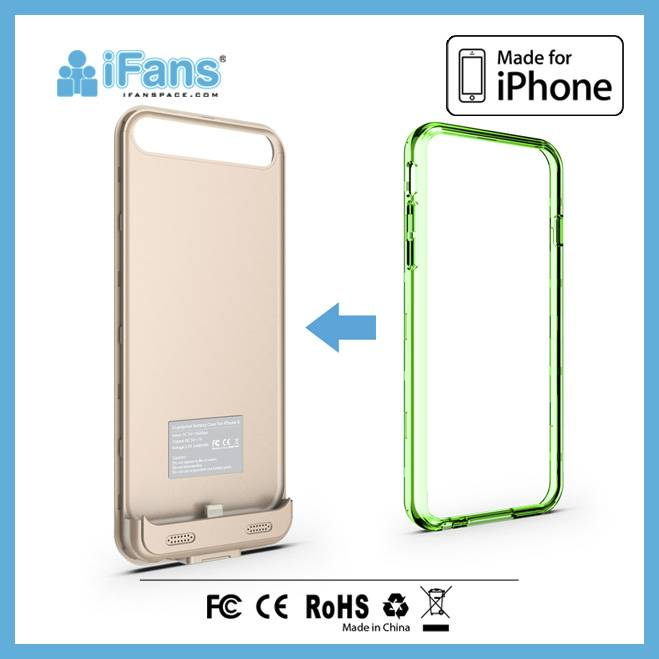 Customized,Printing Private Logo for iPhone 6 Battery Charger Case/Cell Phone Case