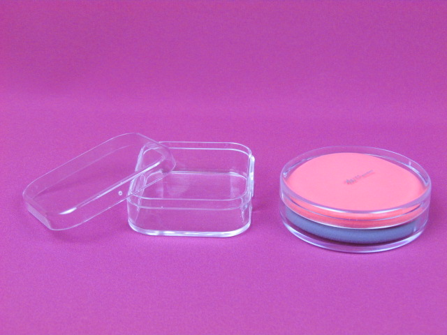 Cosmetic puff case, powder puff box